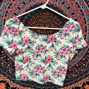 hawaiian crop top
